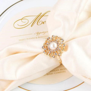 Gold Flower Rhinestone