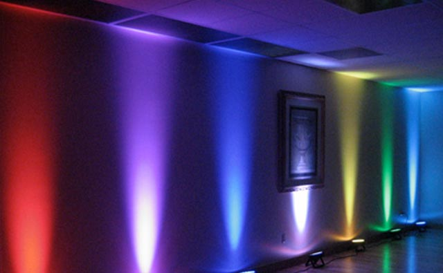 Charged Up Events Uplighting Event Decor